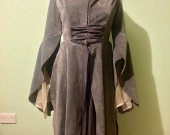 The Chase - Lord of the Rings, Arwen, Elven Dress, Suede, Cosplay, Fellowship, Made To Measure