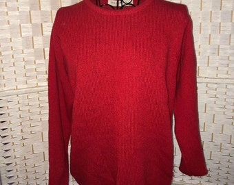 100% Wool Red Jersey