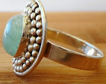 Aventurine Bohemian Silver Ring + Free Gift Box, Bag & Gift