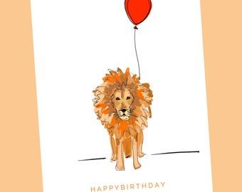 HAPPY BIRTHDAY - Lion