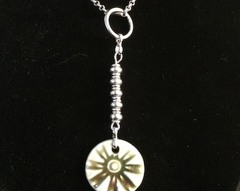 Sand dollar silver necklace