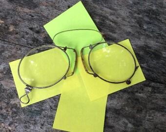 Old Vintage Pinz Nez Glasses,Specs c1900.