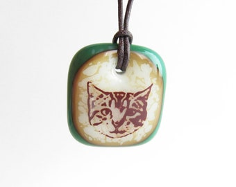Cat Face Jewelry / cat lover gift / tabby cat jewelry / cute cat necklace / cat pendant necklace / kitty cat jewelry / kitten necklace
