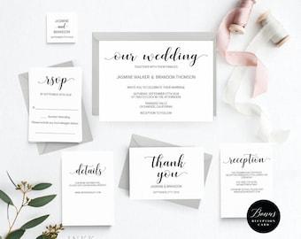 Rustic Wedding Invitation Template, Wedding Invitation Printable, Vintage Invitation, Cheap Invitation,DIY PDF Instant Download #E014i