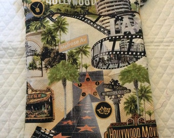 """Hollywood on cotton   Large wet/dry  bag       16"""" x 12"""""""