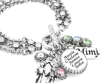 Mothers Personalized Jewelry, Mom Personalized Bracelet, Birthstone Bracelet, Mothers Custom Bracelet, Birthday Gift for Mom