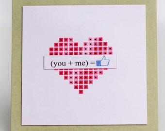 You + Me=like card