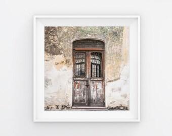 Wooden Abandon Door Photography Print