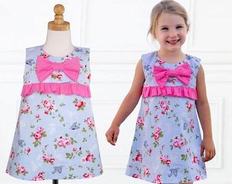Girls Dress Patterns, Dress Sewing Pattern, PDF Sewing Pattern, girls dress pattern, A-line Dress Pattern, Dress Pattern for Girls LUCY