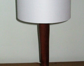 Unique African Sapele table lamp 330mm in height.