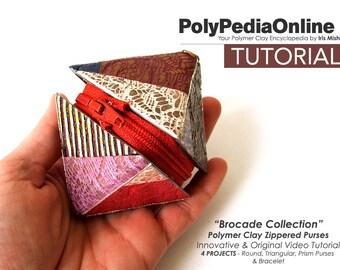 Polymer Clay Tutorial, DIY Kit, PDF, Video Tutorial, Purse Tutorial, DIY Beads, Polymer Clay Jewelry, Bag, Fimo Tutorial, Step by Step