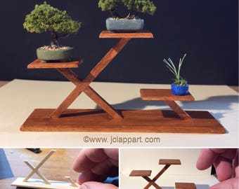 1/12th scale miniature bonsai trees with stand