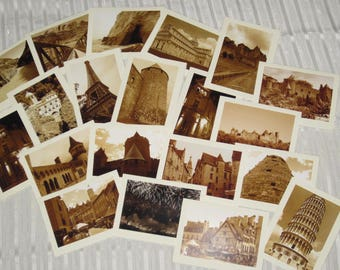 Set of 20 Photo Greeting Cards, Blank Cards, All Occasion Cards, Europe Photography, Sepia Photography, Blank Note Cards