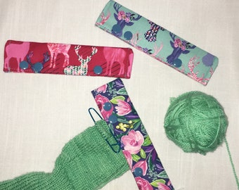 """Stitch Hoodies, needle keepers, set of three, for 5-6"""" DPNs and most circular needles"""
