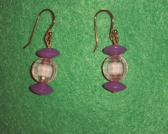 Light lavender lantern earrings.