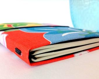 Traveler's Notebook A6 Red fabric midori fauxdori