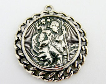SaLe! sALe! St Christopher Pendant Sterling Silver