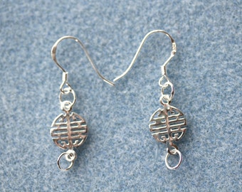 Sterling Silver Decorative Ear Wires (Sold in Packs of one or four pairs) - Free UK Postage