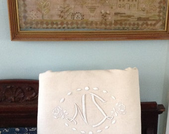 Vintage French Linen Sheet