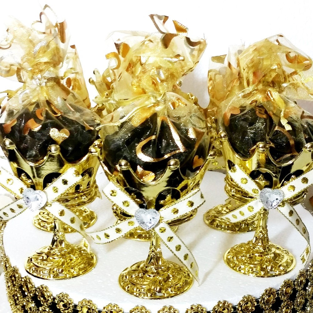 12 NEW Crown Prince Gold Cup Favors For Royal Baby Shower /