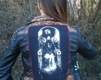 Leopard Leather Jacket Studded Medusa Horror Punk Gothic Monster