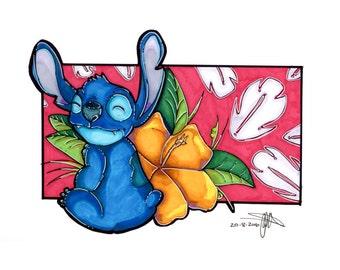 Marker illustration - Stitch