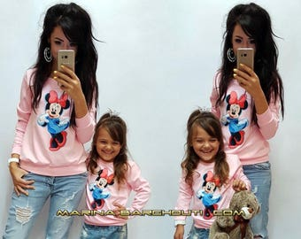 Family Look Matching sweatshirts Mother and daughter SET