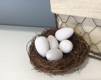 Painted Robin's Eggs, Paloma, Spring Decor, Easter Decor