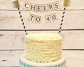 Beer mug cake topper, 21st birthday, 30th birthday, cheers to 30 years, dirty thirty, thirsty thirty, cupcake toppers, cake topper