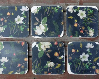 Made to order - Set of vintage decoupaged coasters  in your choice of paper