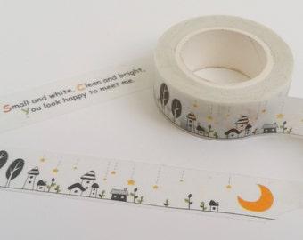 Sleepy Little Town Washi Tape