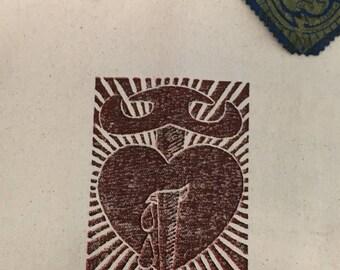 Totes - Lino Cut; Hand Printed