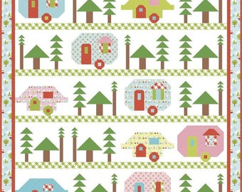 SALE!!!  Trailerville Kit Pattern by Kelli Fannin Quilt Designs fabric Glamper-licious by Samantha Walker