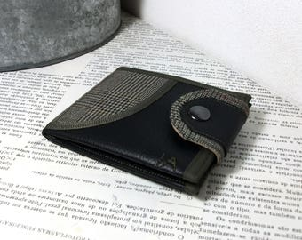 Monogram Wallet, Vegan Leather Wallet, Bifold Wallet, Leather Wallet for Man for Woman with Coin Pocket - UNUSUAL Wallet