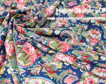 1 Meter Chiffon Fabric CH138-NB - Wonderful Paisley Design