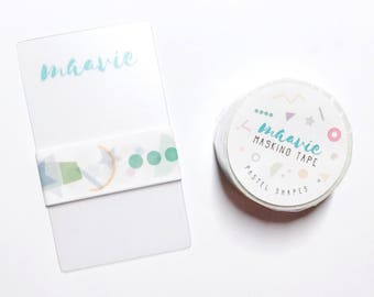Sample Maavie masking tape-pastel shapes