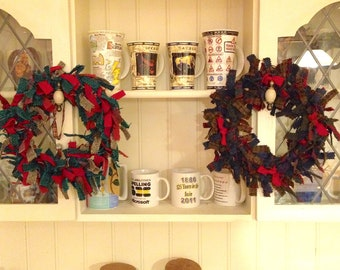Wreaths made with Harris Tweed.