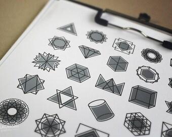 25 Geometric Vector Icons