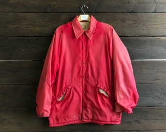 Vintage 60s King Louie Pro Fit Sherpa Lined Button-Up Jacket