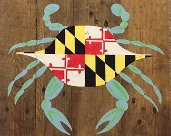 Maryland Flag Blue Crab Pallet