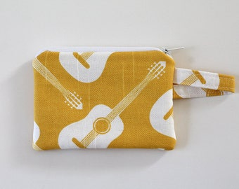 change purse, pocket wallet, Small zipper pouch cash wallet, earbud pouch, business card holder, keychain wallet, id holder, Guitar pick bag