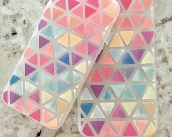 Colorful iPhone Case, Triangle case, Pink iPhone Case, TPU iPhone Case, Soft iPhone Case, Silicone iPhone Case, Cute Case, Stylish Case