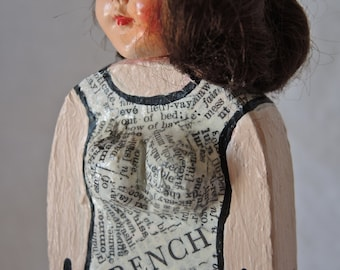 OOAK Altered Art Doll Head Assemblage Figure