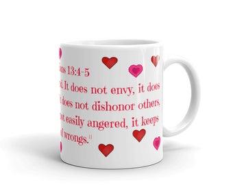 Corinthians 13 Love Bible Verse Mug