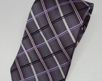 Burma Bibas Lavender Diamond Pattern Tie