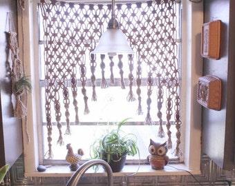 panel separador de macrame cortina tejido macram dos metros. Black Bedroom Furniture Sets. Home Design Ideas