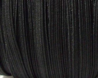 Ribbon 6 mm black elastic
