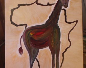 Painting Figurative Sophie the giraffe