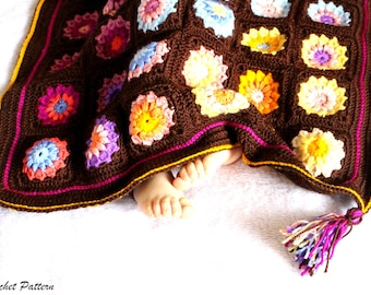Crochet Blanket Pattern, Crochet Baby Blanket Pattern, Granny Square Blanket, Baby Blanket Pattern, Blanket Baby Girl Pattern, Baby Pattern