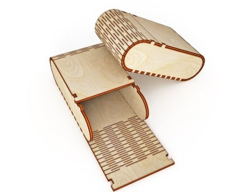 Wooden small сase vector for CNC